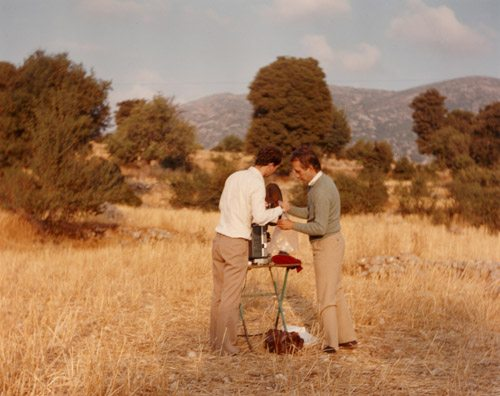 Robert Beavers and Gregory Markopolous at the Tenemos site.  Photo: Tenemos archive.
