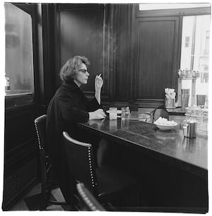 """""""Woman at the counter smoking, N.Y.C.""""/ Diane Arbus"""